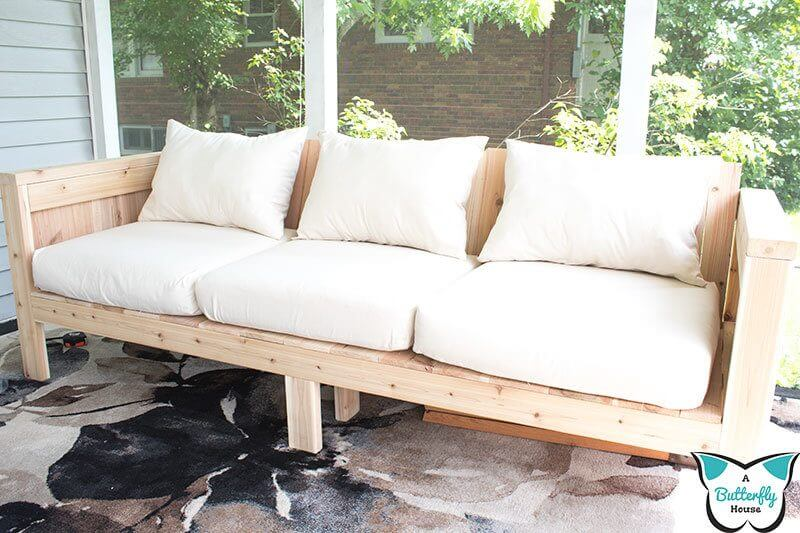 Bleached Wooden Outside Couch