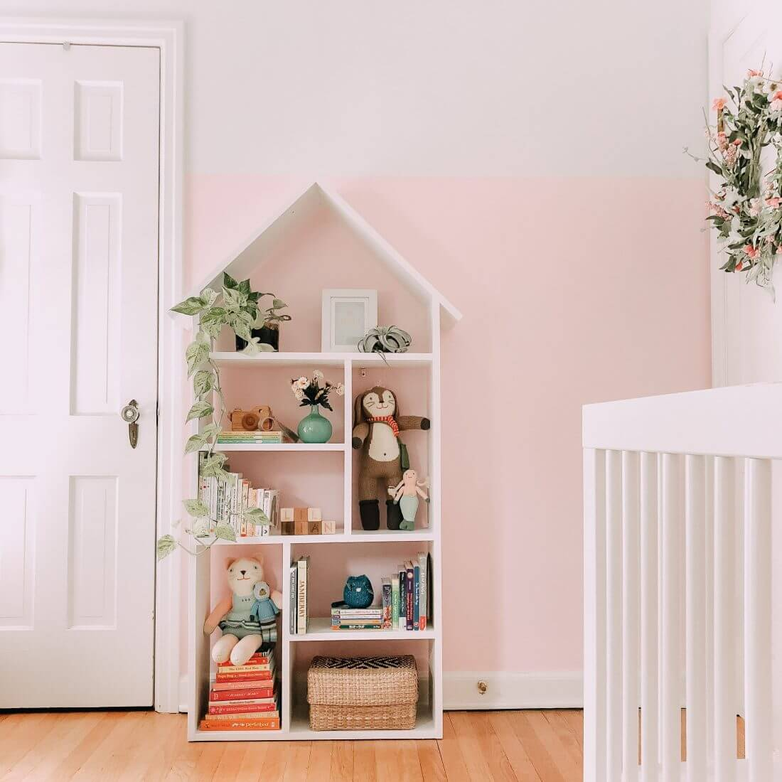 The Perfect Dollhouse Bookcase for Baby Books
