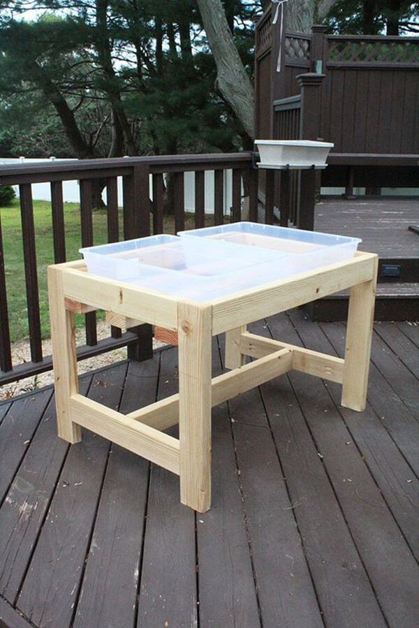 Self-Made Outdoor Service Table