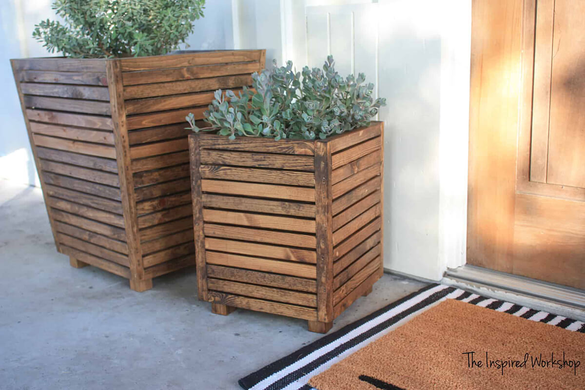 Repurposed Wooden Crates for Outdoor Plants
