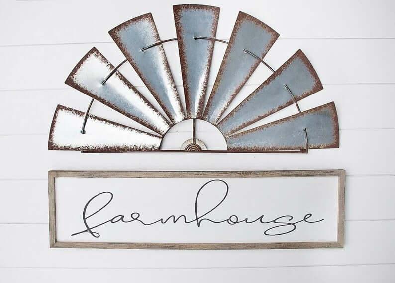 """Farmhouse"" Rustic Entryway Decorative Sign"
