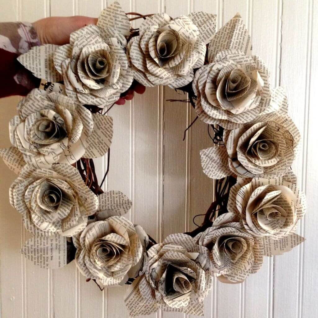 Lovely Book Paper Rose Craft