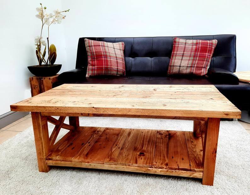 Handmade Wooden Farmhouse Coffee Table
