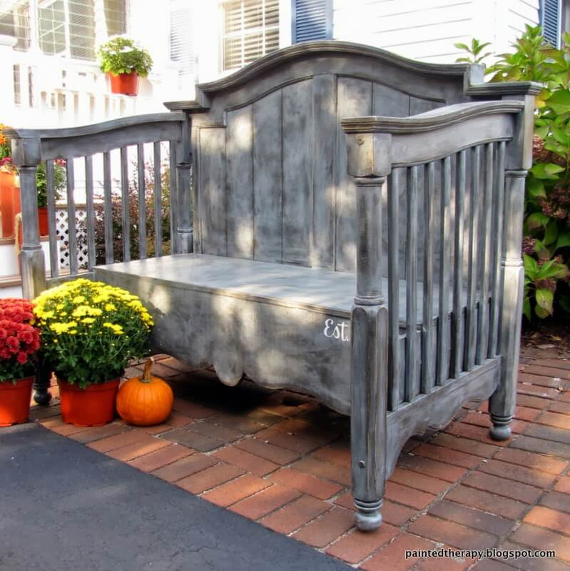 High-Backed Decorative Bench