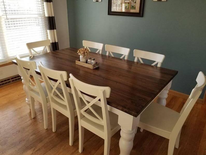 Stylish Chunky Farmhouse Dining Table