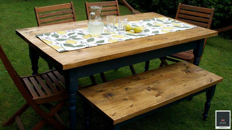 Unique Rustic Farmhouse Table Set