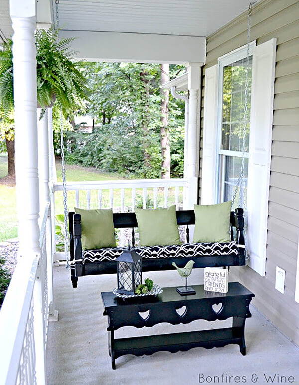 Spectacular Spindle Front Porch Swing