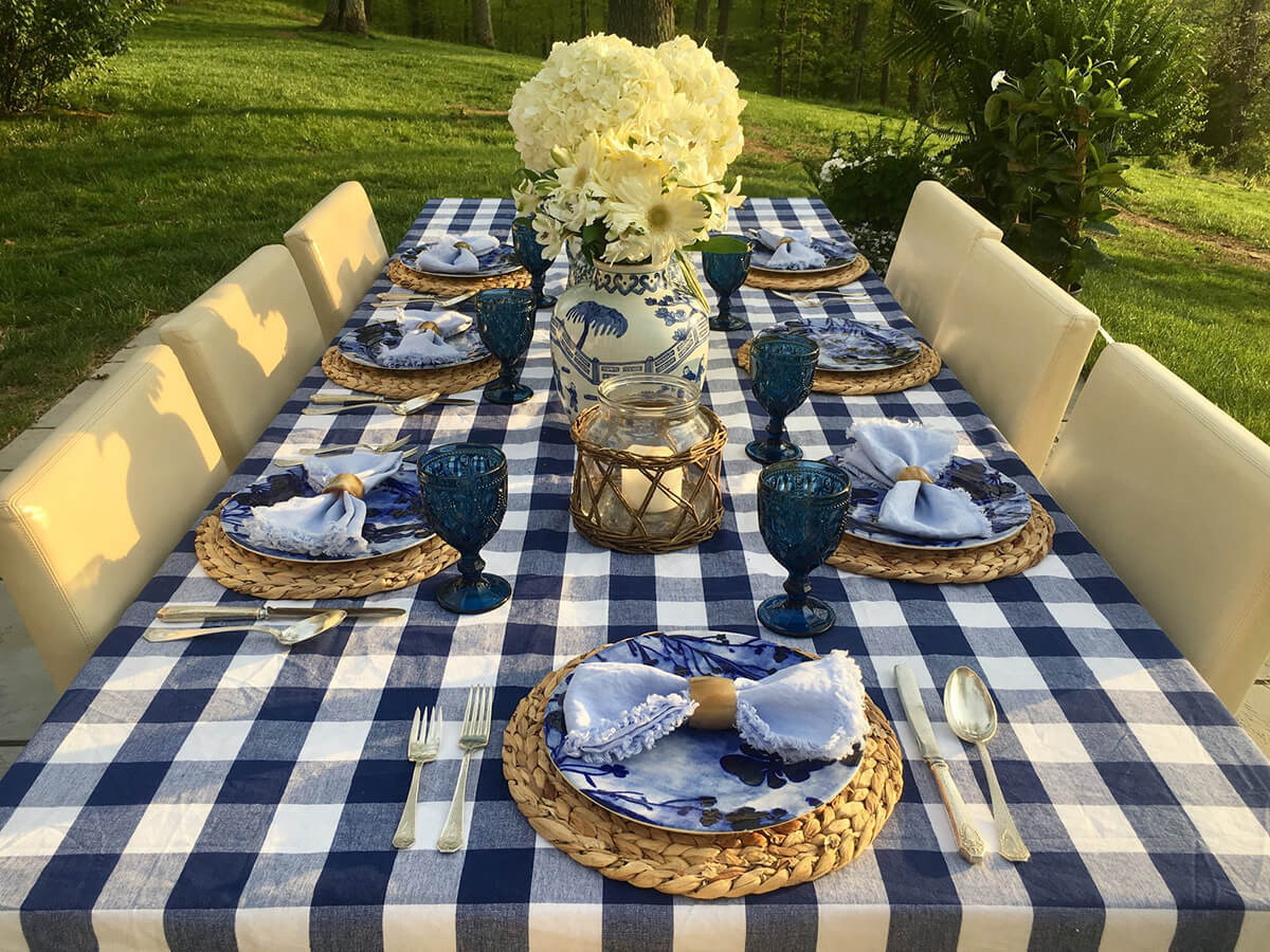 Classic Blue and White Tablescape