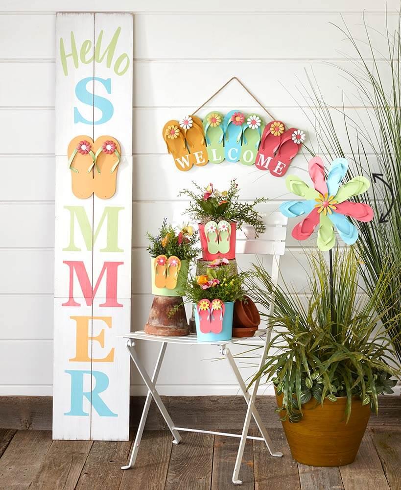 Flippin' and Floppin' Summer Decor Extravaganza