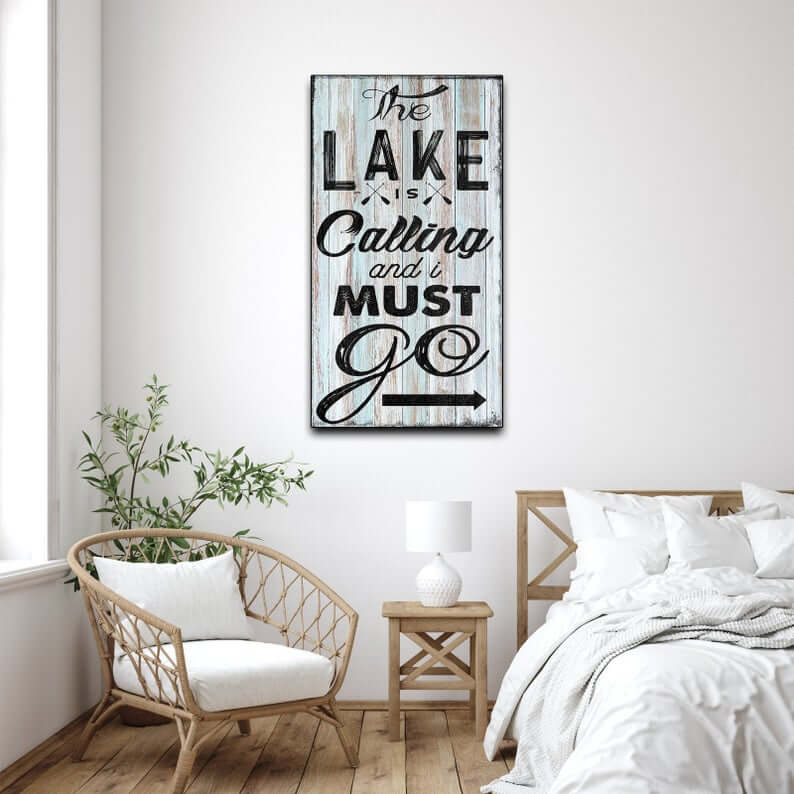 Must Go to the Lake Wooden Sign