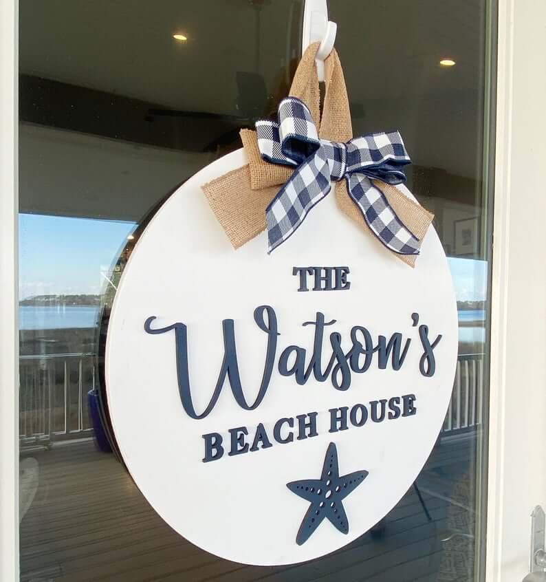 Cute and Beachy Namesake Sign