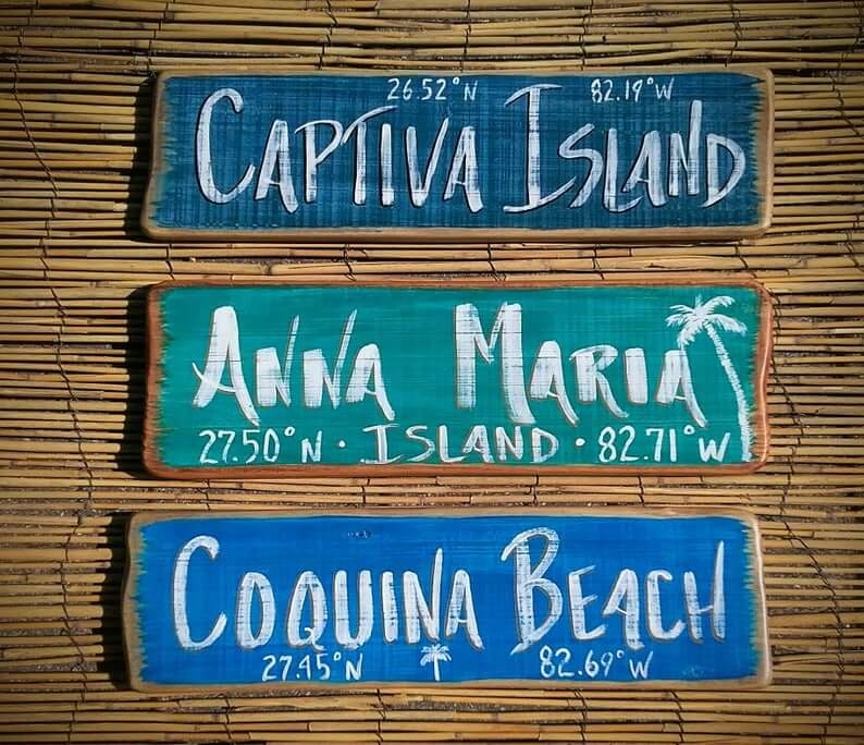 Personalized Tiki Bar Wooden Beach Signs