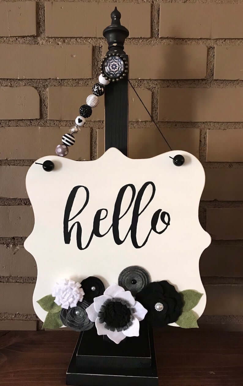 Thin Cute Painted Sign Post