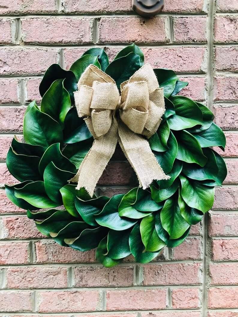 Gorgeous Magnolia Leaf Door Wreath