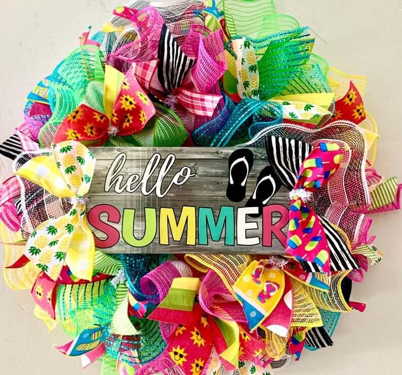 """""""Hello Summer"""" Bright Wreath Kit"""