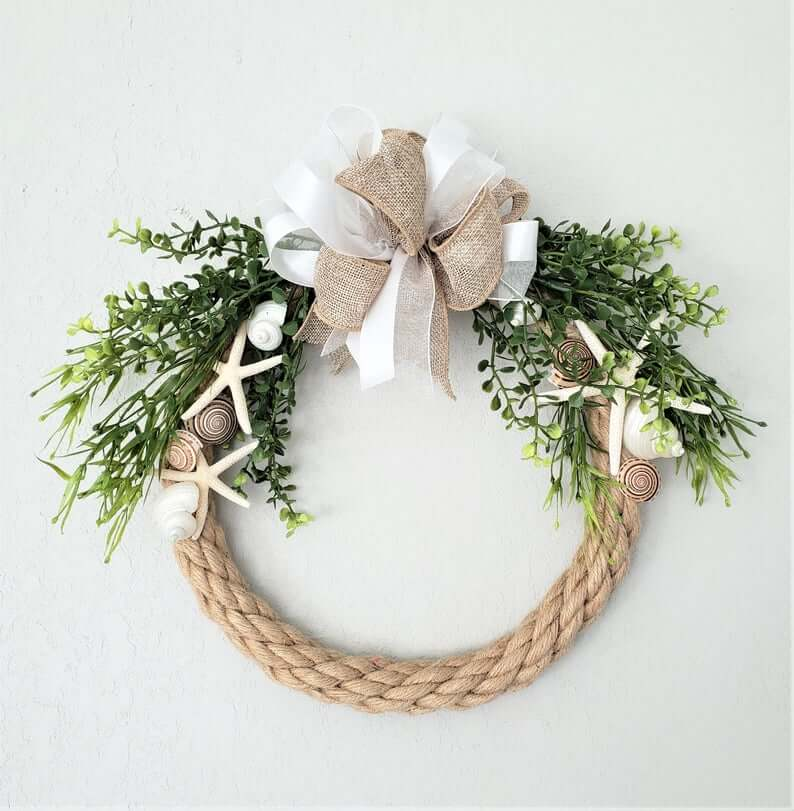 Nautical Rope Coastal Style Wreath