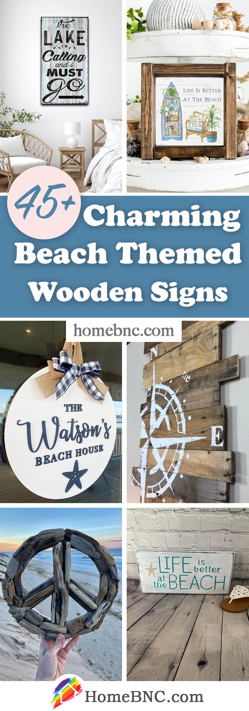 Beach Themed Wooden Sign Ideas