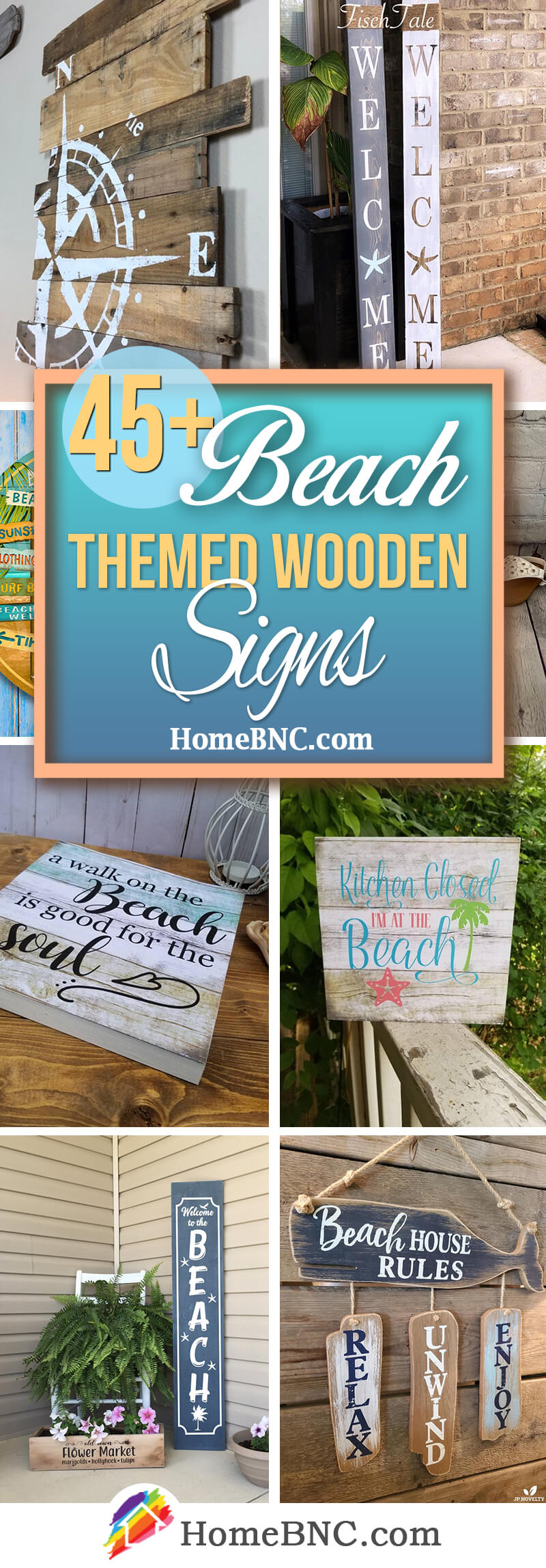 Beach Themed Wooden Signs