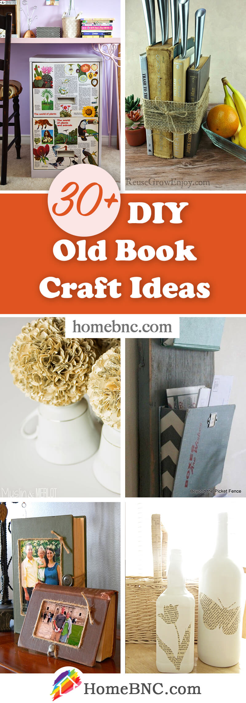 DIY Old Book Crafts