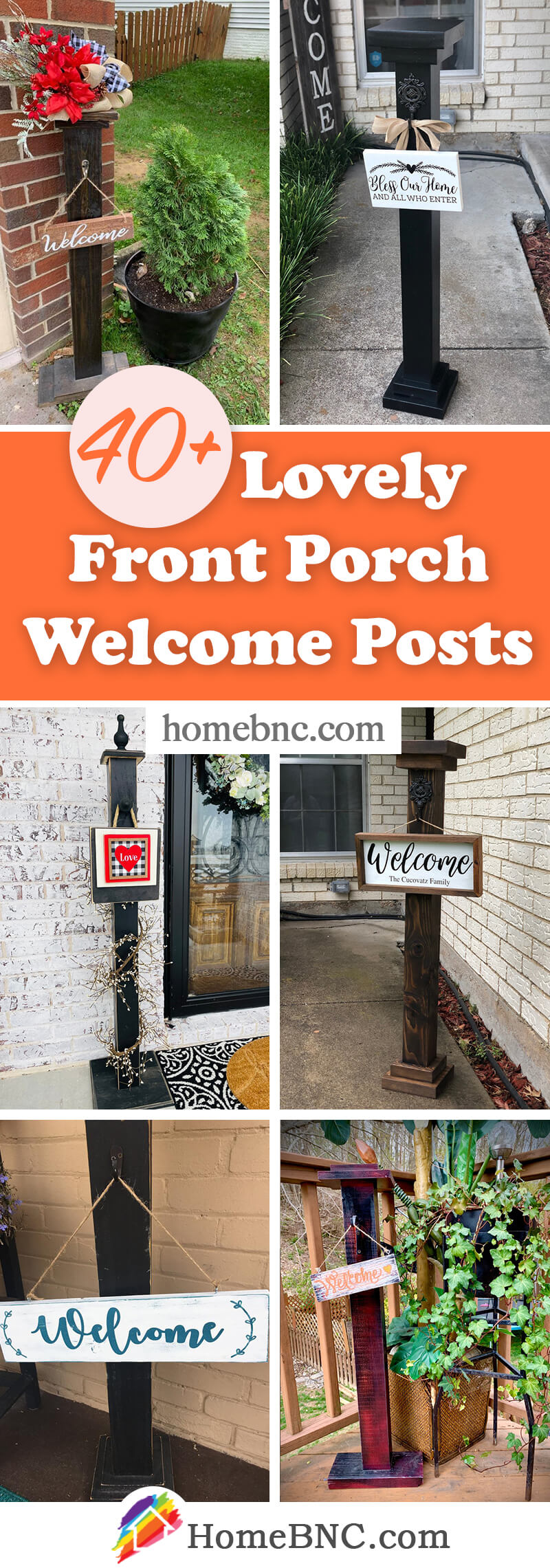 Front Porch Welcome Posts