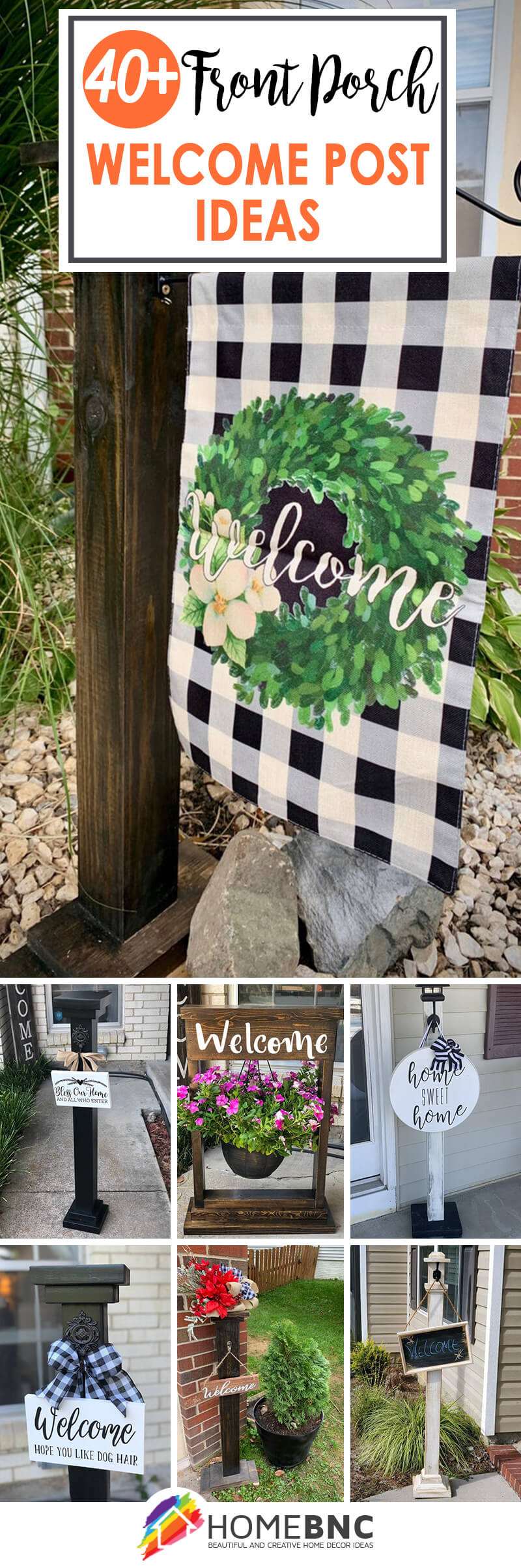 Front Porch Welcome Post Ideas