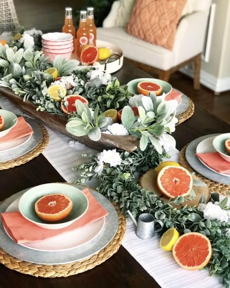 Great Grapefruit and Greenery DIY Centerpieces