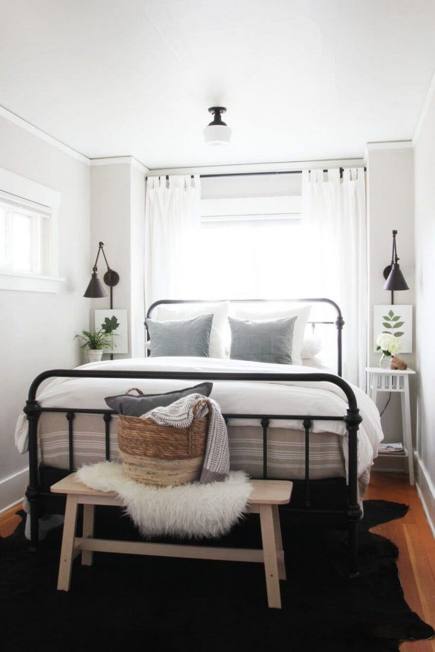 Long & Narrow Bedroom Flooded with Natural Light