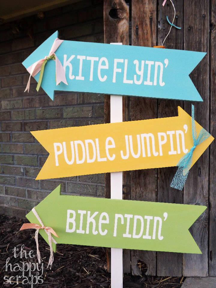 Summer Activities Crossroads Outdoor DIY Sign