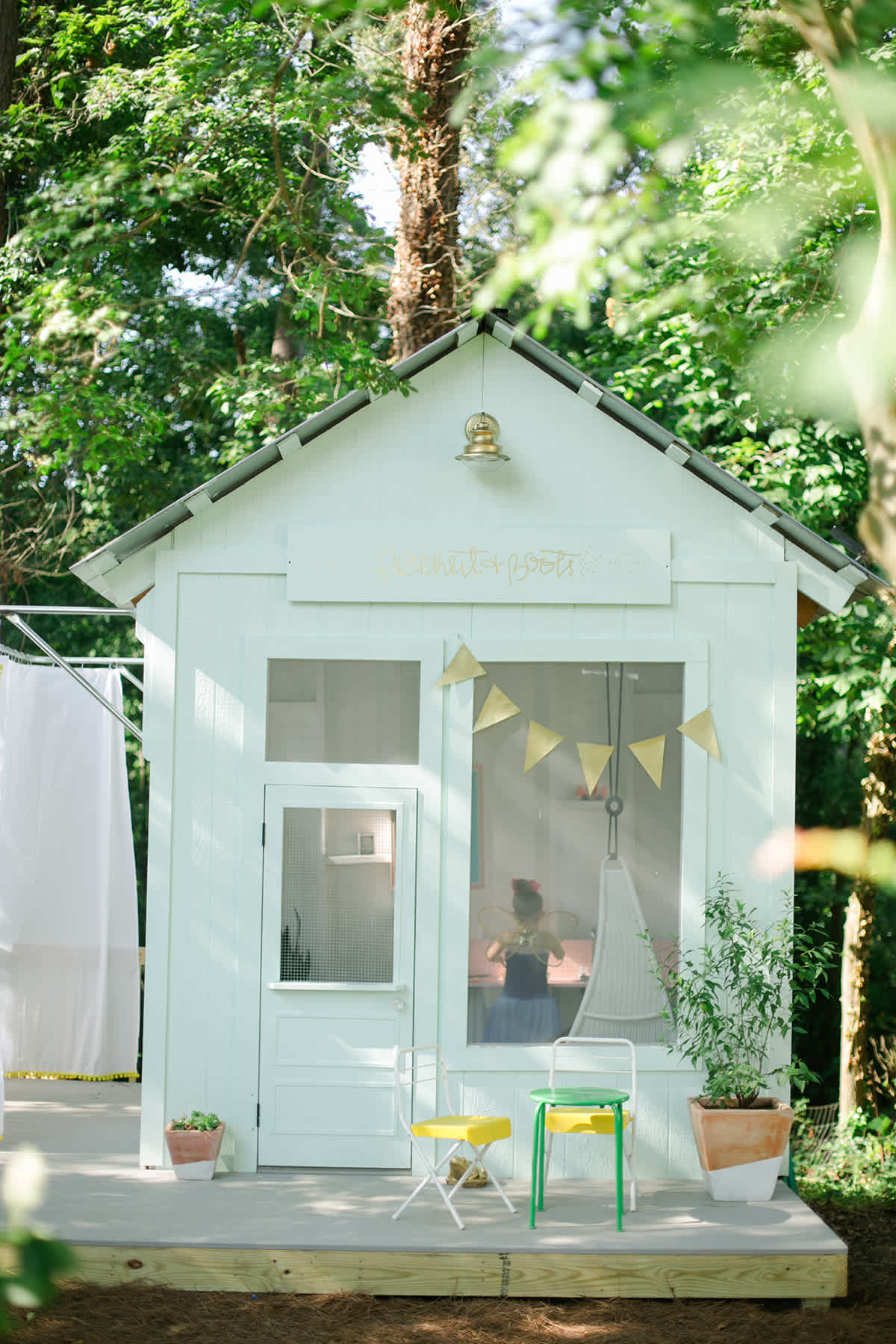 Whimsical Cozy Outdoor Cubby Playhouse