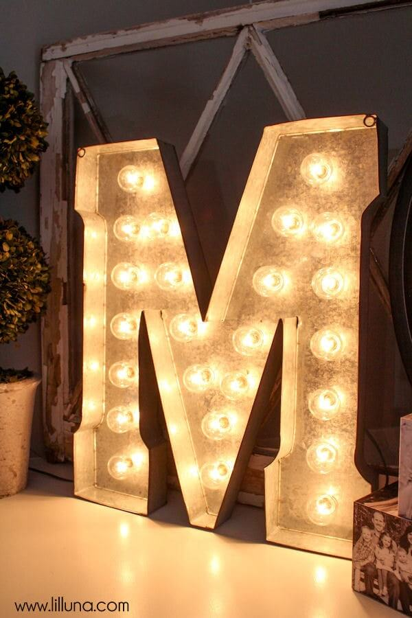 Bright and Personalized Vintage Marquee Letter