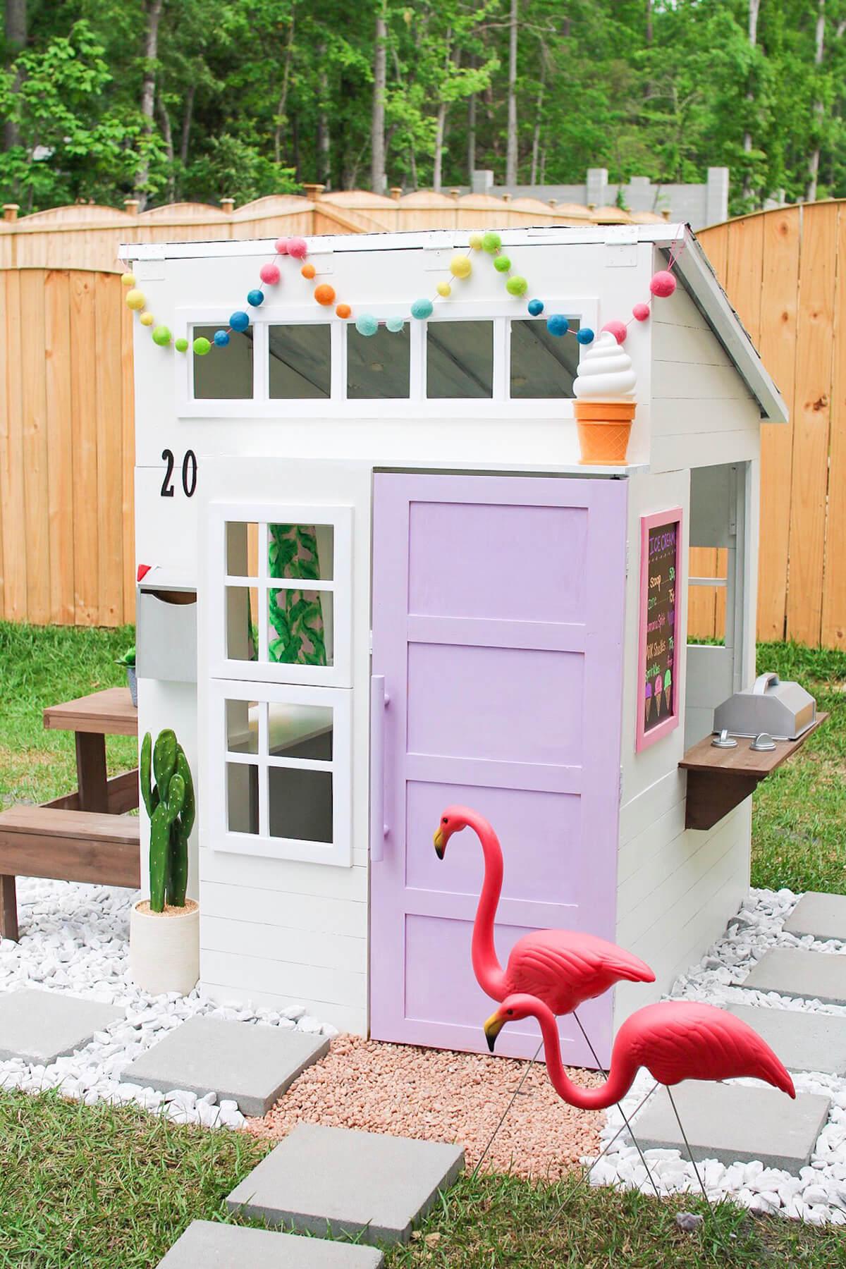 Sweet DIY Ice Cream Shop Playhouse