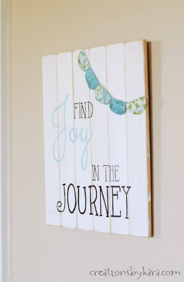 Find Joy in the Journey Summertime Sign