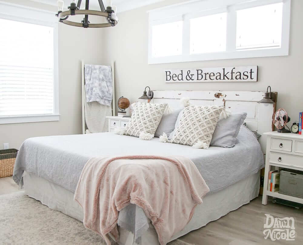 Add Farmhouse Character with a Vintage Headboard