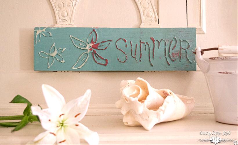 Vintage Country Blue DIY Summer Sign
