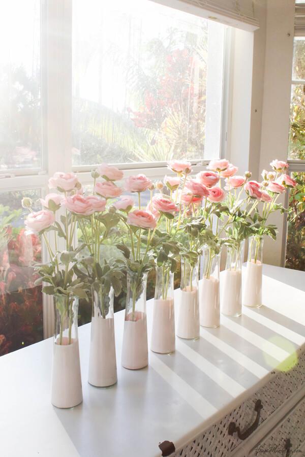 Glass and Paint Elegant Flower Vase