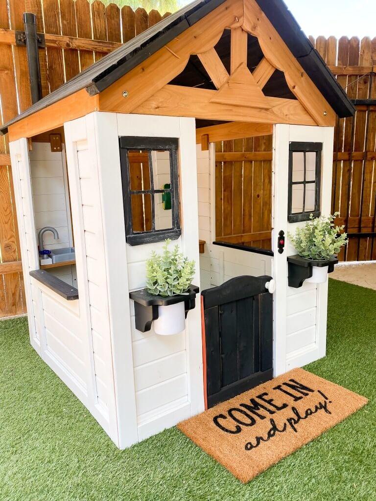 DIY Modern Farmhouse Styled Playhouse