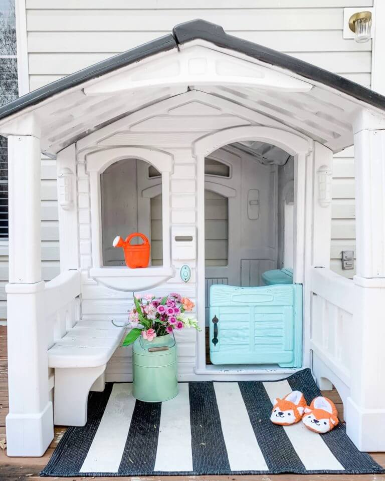 Awesome Step2 Playhouse Upcycled Makeover