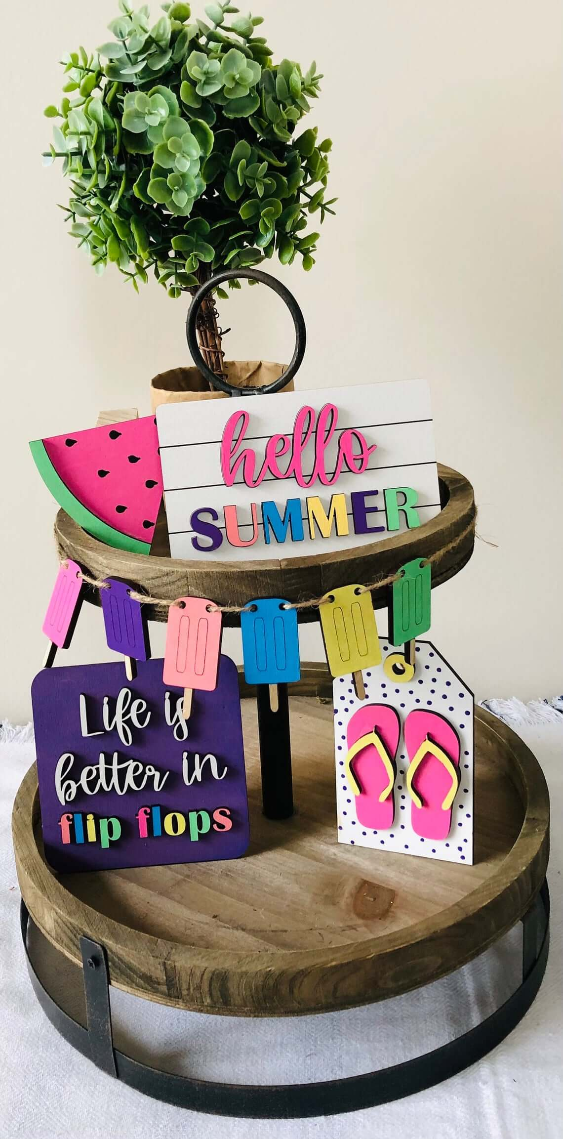 Popsicles, Flip Flops, and Watermelon Summer Sign