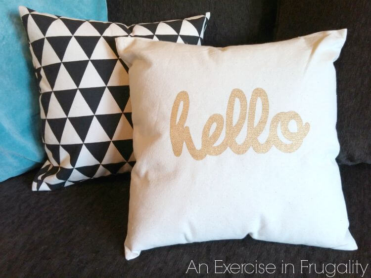 DIY Canvas Bag Three Minute Pillow