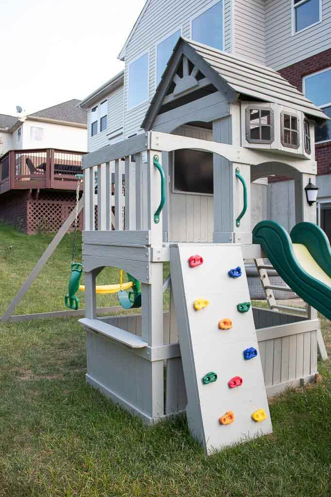 Awesome Swing Set Playhouse Makeover