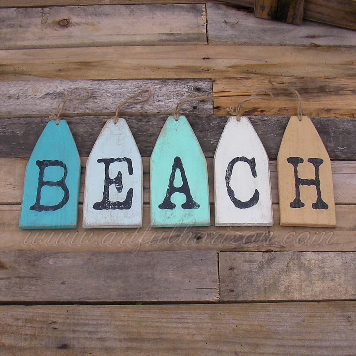 Name Tag Letters Beach Lovers Sign