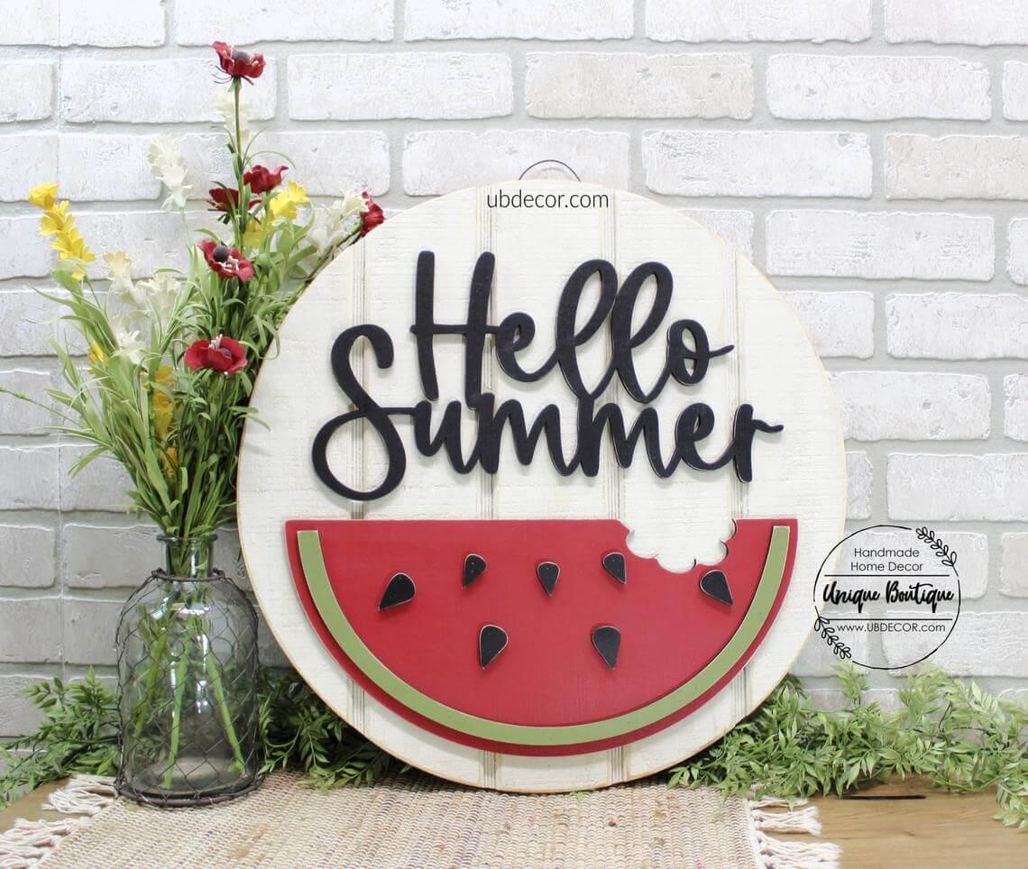 Tasty Watermelon Summer DIY Sign
