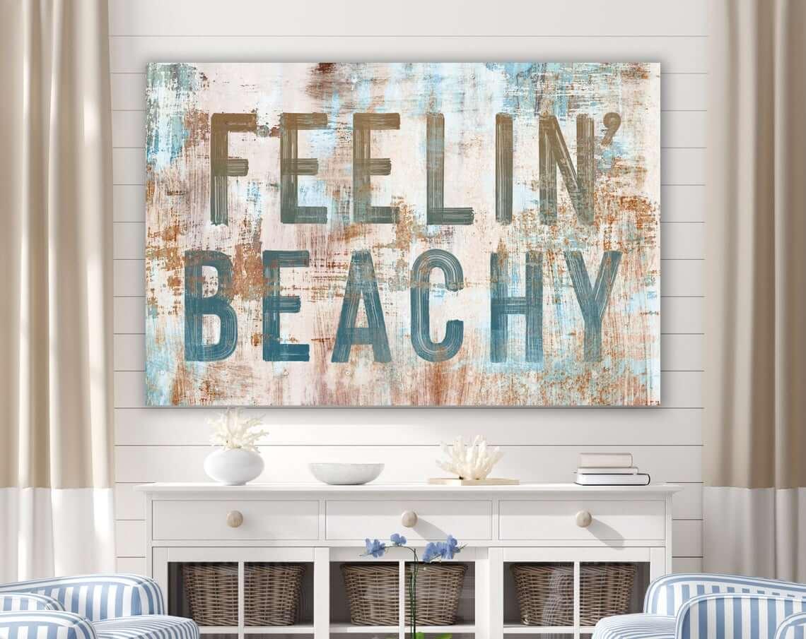 Vintage Flair Feelin' Beachy Summer Sign