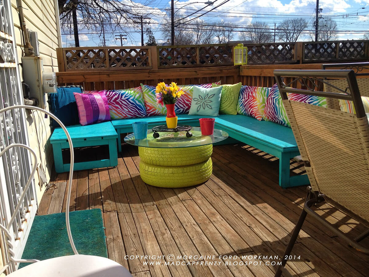 Rainbow Style Deck and Seating Area