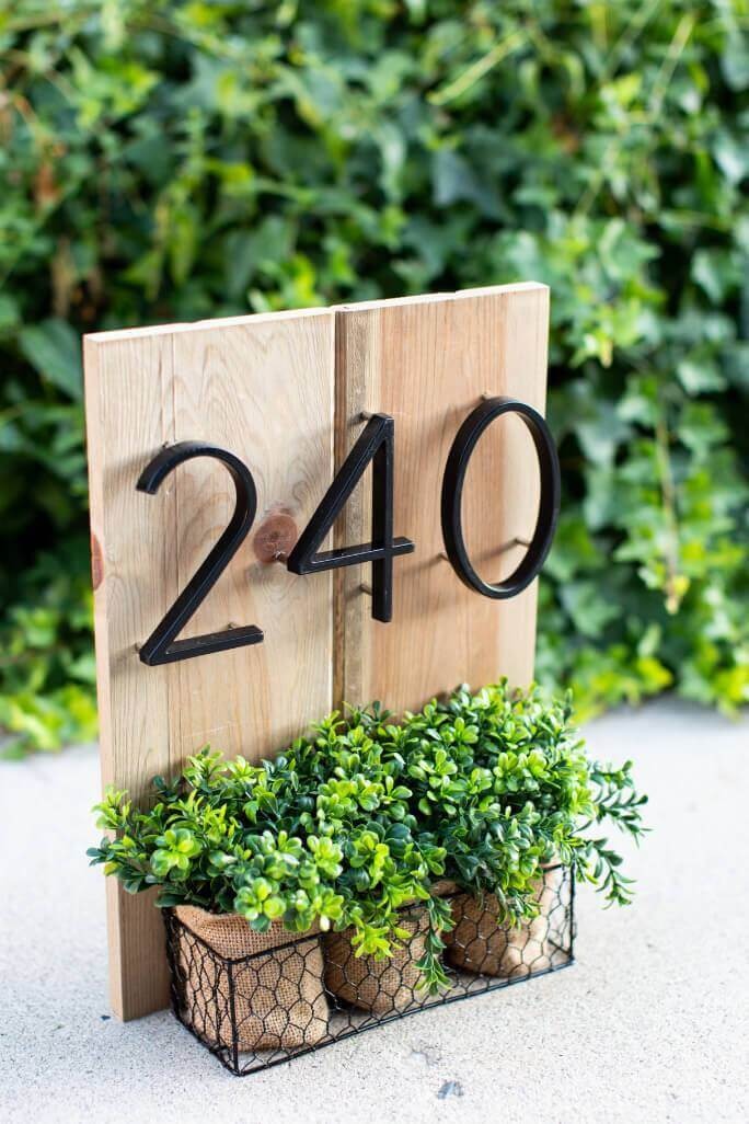 Bold and Modern House Numbers