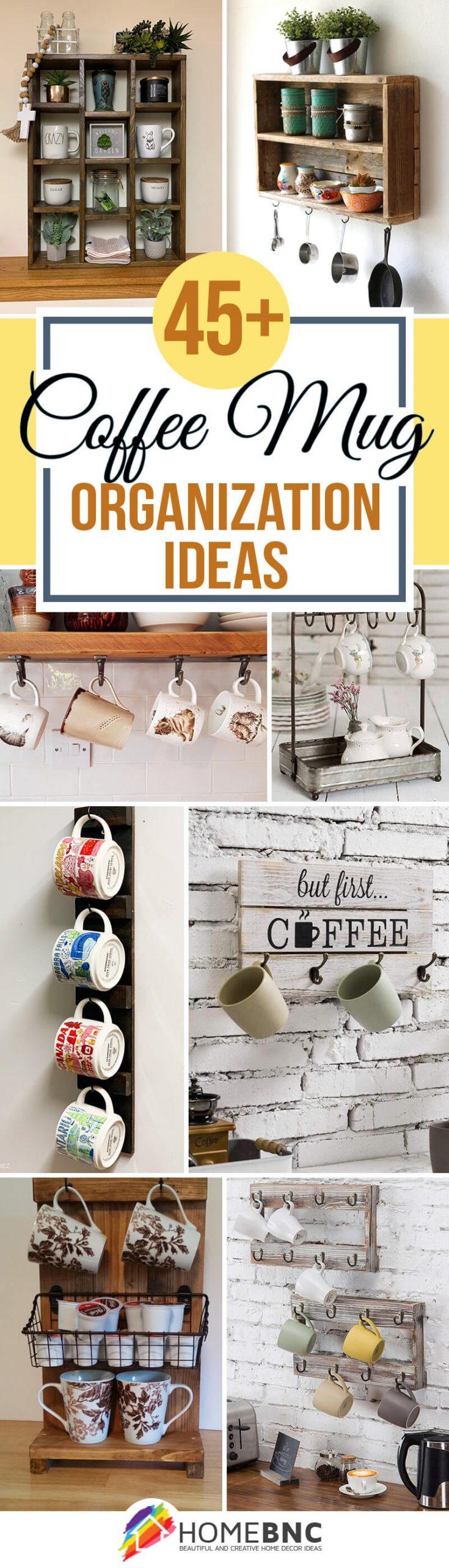 Coffee Mug Organization Ideas