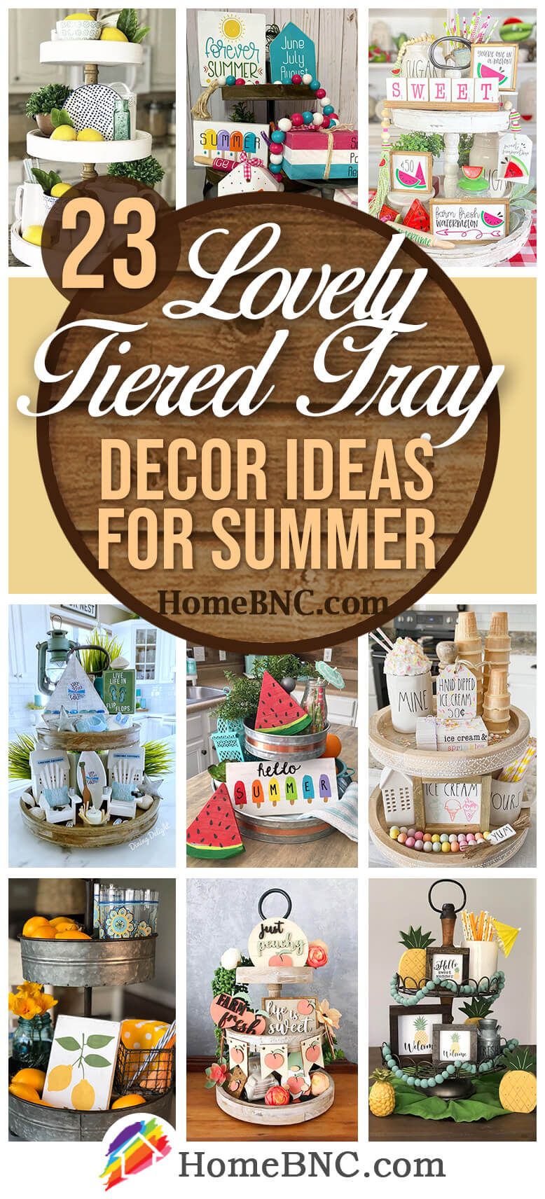 Best Tiered Tray Decor for Summer