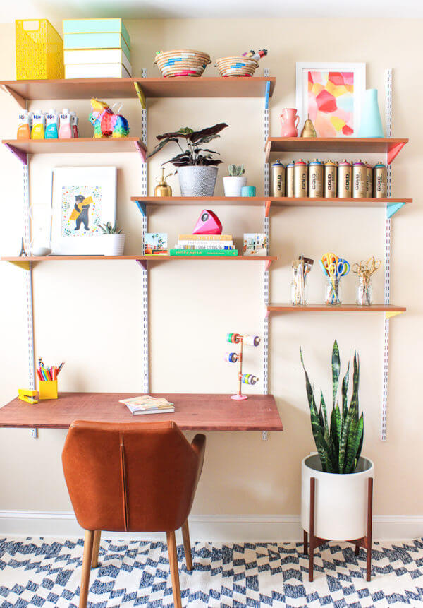 Trendy Wall-Mounted Craft Desk Solution