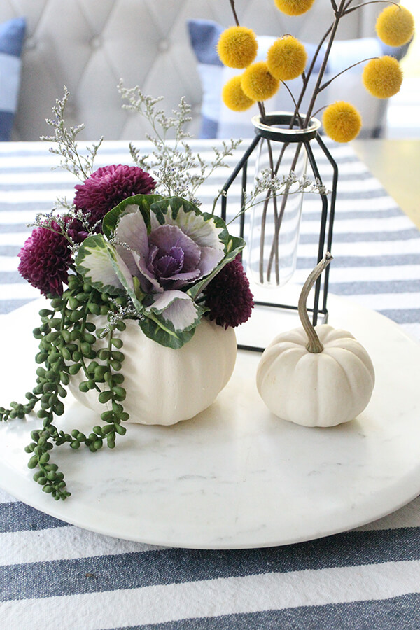 Budget-Friendly Pumpkin Floral Arrangement