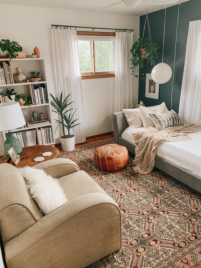 Cool and Cozy Organic Sitting Room